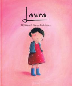 """Copertina del libro """"Laura"""", che raffigura una bambina."""