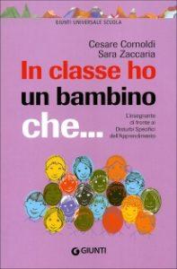 In classe ho un bambino che… Insegnanti e DSA – Cesare Cornoldi, Sara Zaccaria