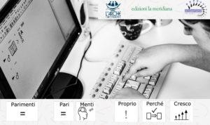 Persona che scrive a computer utilizzando la caa