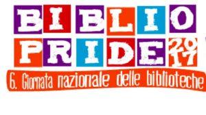 Logo di bibliopride con lettere colorate