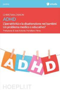 Lettere che compongono la parola ADHD appese a un filo con mollette