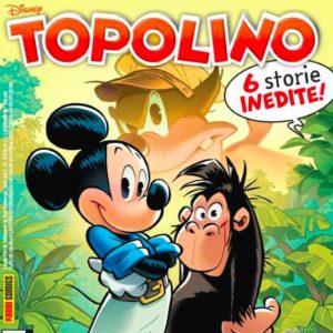 Copertina del settimanale Topolino: Topolino e una scimmia