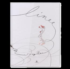 disegno di bambina che pattina e linee tracciate a matita