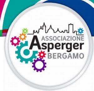 Logo dell'Associazione Asperger Bergamo:ingranaggi e profilo della città