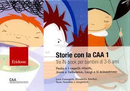 Copertina di Storie illustrate con la CAA 1: disegni di volti di bambini