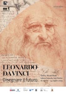 Disegno del volto di Leonardo da Vinci