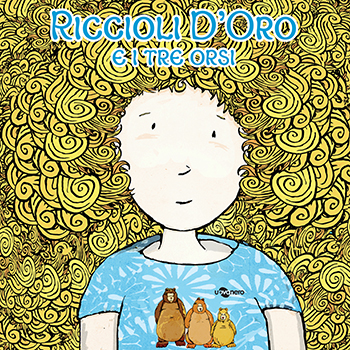 Disegno di bambina con riccioli biondi che occupano tutta l acopertina del libro