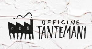Logo di Officine tantemani: disegno di due mani che formano un'officina