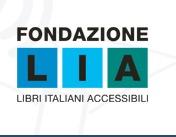logo fondazione lia: lettere l,i,a in tre colori
