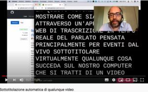 sottotitolazione automatica video